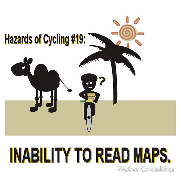 bicycling hazards bad gps and inability to read maps