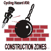 HAzards of cycling - Construction zones wrecking ball wreck