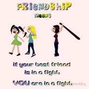 Friendship means if your best friend is in a fight, YOU are in a fight. Keywords: Friendship means if your best friend is in a fight, YOU are in a fight. hair pulling