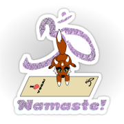 Namaste Fox Handstand - Yoga Mat with glittery namaste Keywords: Namaste Fox Handstand - Yoga Mat with glittery namaste