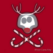 Rudolph Jolly Roger with Candy Canes