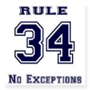 rule 34 - no exceptions collegiate print jersey shirt Keywords: rule 34 - no exceptions collegiate jersey