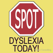 SPOT Dyslexia Today! (Funny Shirt) Keywords: humor, dyslexia, spot, stop, sign, funny, lol, olo, transposed, transpose