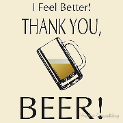 Thank you, beer!