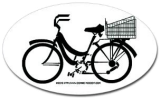 mamachari beach cruiser bicycle bumper sticker bike basket decal (also available on shirts, apparel, and other items!)